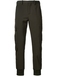 Neil Barrett Tapered Cargo Trousers Brown
