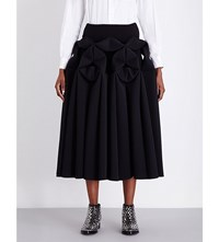 Junya Watanabe Origami Pleated Neoprene Skirt Black X Black