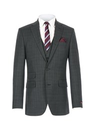 Pierre Cardin Men's Louis Grey Pow Check Jacket Grey