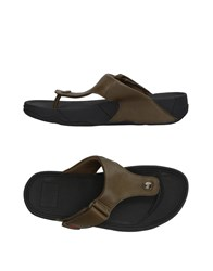 Fitflop Footwear Toe Post Sandals Military Green