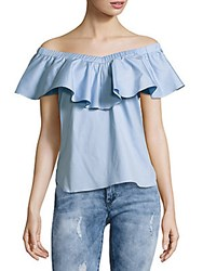 Saks Fifth Avenue Black Off The Shoulder Top White