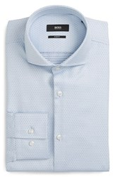 Boss Men's Slim Fit Stripe Dress Shirt