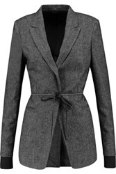 Brunello Cucinelli Stretch Wool And Cashmere Blend Jacket Anthracite