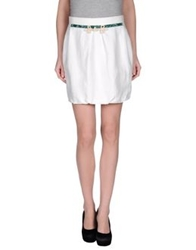 Monica Bianco Mini Skirts White