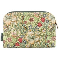 Heathcote And Ivory Morris And Co Golden Lily Small Cosmetics Bag