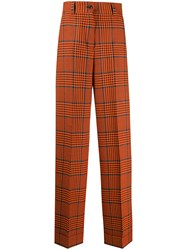 Pt01 Checked Wide Leg Tailored Trousers 60