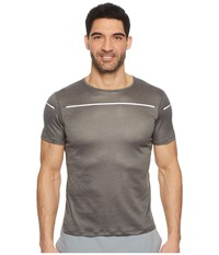 Asics Lite Show Short Sleeve Top Dark Grey T Shirt Gray