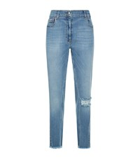 Magda Butrym Nelsonville Distressed Jeans Blue