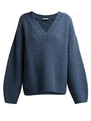 Bottega Veneta Alpaca And Wool Blend Sweater Blue