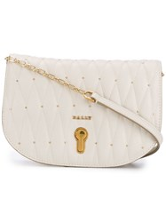 Bally Quilted Mini Bag Neutrals