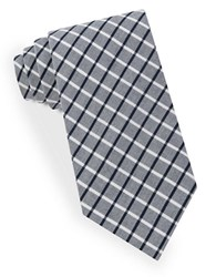 Lord And Taylor Negative Grid Tie Gray