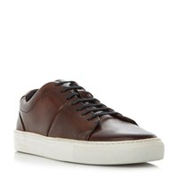 Oliver Sweeney Laine Premium Leather Cupsole Trainers Brown