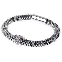 Adele Marie Fine Bead Pave Rope Bracelet Silver