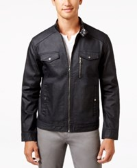 Inc International Concepts Men's Metalcore Moto Jacket Only At Macy's Black