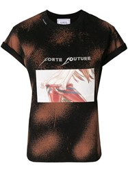 Forte Couture Printed T Shirt Black