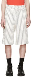 Opening Ceremony White Pinstriped Boxing Shorts
