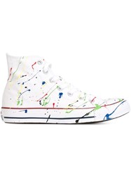 Converse Colour Splatter Detail Sneakers White