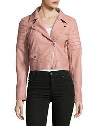 Blank Nyc Faux Leather Moto Jacket Pretty In Pink