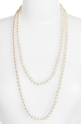 Majorica 8Mm Round Pearl Endless Rope Necklace White Silver