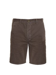 Rag And Bone Loose Fit Brushed Cotton Shorts Grey