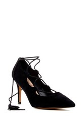 Sole Society Madeline Lace Up Pump Black