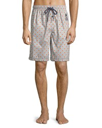 Psycho Bunny Woven Lounge Shorts With Logo Gray Pattern