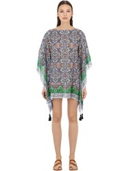 Tory Burch Printed Square Cover Up Multicolor
