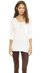 David Lerner Seamed Pocket Long Sleeve Tee