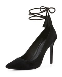 Joie Angelynn Suede Ankle Wrap Pump Black