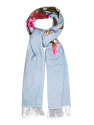 Undercover Flower And Hand Print Scarf
