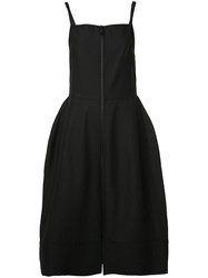 Vera Wang Square Neck Bell Dress Black