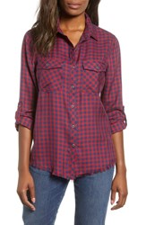 Billy T Lace Back Plaid Shirt Red Baby Buffalo