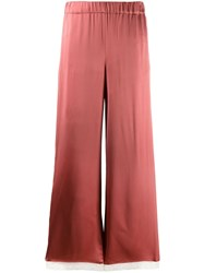 Semicouture Flared Trousers Pink
