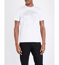 Paul Smith Ps By Monkey Print Cotton Jersey T Shirt White