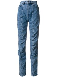 Y Project Ruffle Jeans Blue