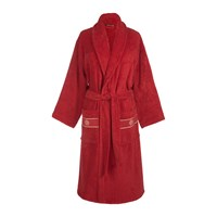 Roberto Cavalli Gold Shawl Bathrobe Red