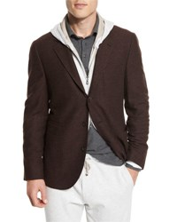 Brunello Cucinelli Deconstructed Three Button Sport Coat Red