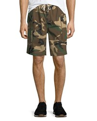 Ovadia And Sons Tribeca Camo Cargo Shorts Green Pattern