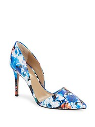 Saks Fifth Avenue Felicity Printed Leather Pumps Blue Multi