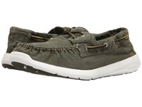 Sperry Sojourn Washed Canvas 2 Eye Olive Men's Lace Up Casual Shoes