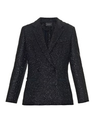 Cedric Charlier Double Breasted Lame Wool Blazer