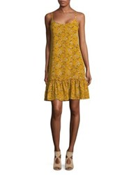 Molly Bracken Floral Print Shift Dress Saffron