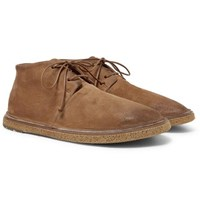 Marsell Stag Suede Chukka Boots Brown
