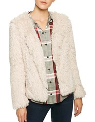 Sanctuary Faux Fur Stella Jacket Cream