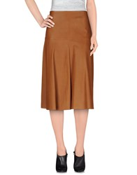 Jitrois Skirts 3 4 Length Skirts Women Brown