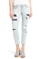 Lucky Brand Women's Lolita Ripped And Repaired Capri Jeans