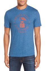 Original Penguin 'Drinks Well' Heritage Slim Fit Graphic T Shirt Snorkel Blue