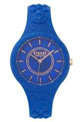 Versus By Versace Women's Fire Island Silicone Strap Watch 39Mm Blue