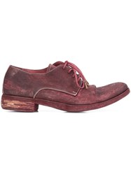 A Diciannoveventitre Peaked Derby Shoes Red