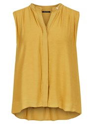 Marc O'polo Blouse Top In Pure Viscose Yellow